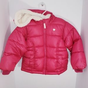 Toddler 3T Old Navy Puffer Coat Fur Hood NEW